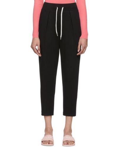 Bawełna bawełna czarny przycięte spodnie z kieszeniami Givenchy
