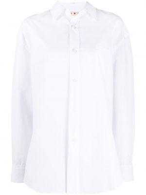 Белая классическая рубашка с воротником свободного кроя на пуговицах Marni