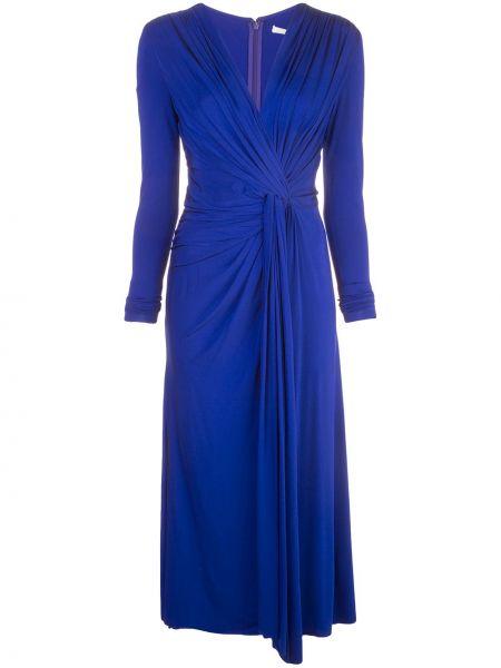 С рукавами синее платье Jason Wu Collection
