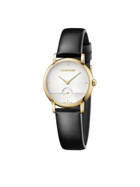 Złoty zegarek - czarny Calvin Klein
