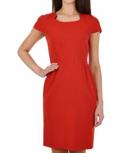 Шерстяное платье - красное Agnona