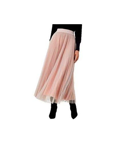 Розовая плиссированная юбка Liu Jo