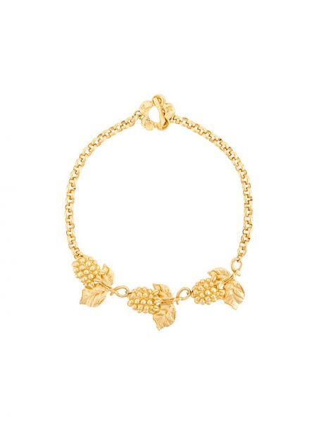 Желтое ожерелье с подвесками металлическое Kenzo Pre-owned