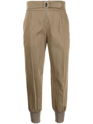 Коричневые хлопковые спортивные брюки Chloé