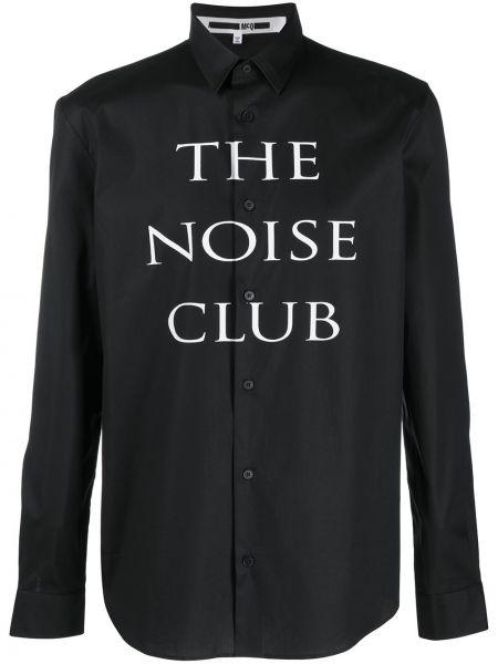 Klasyczna czarna klasyczna koszula bawełniana Mcq Alexander Mcqueen