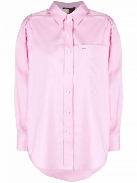 Ватная розовая хлопковая оксфордская рубашка Hilfiger Collection