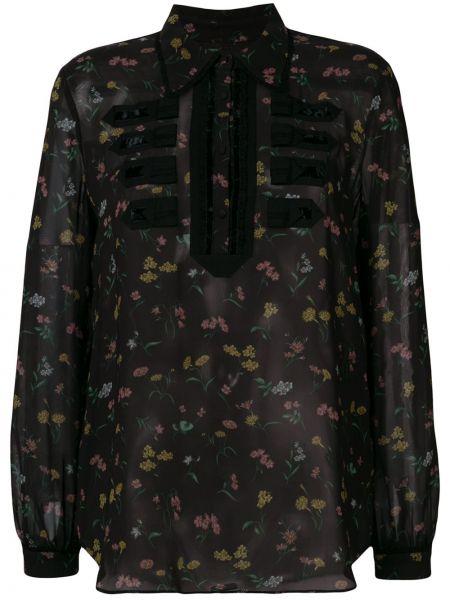 Классическая рубашка с воротником прозрачная милитари на пуговицах Coach
