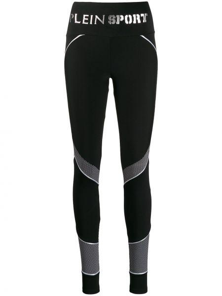 Спортивные брюки из полиэстера - черные Plein Sport
