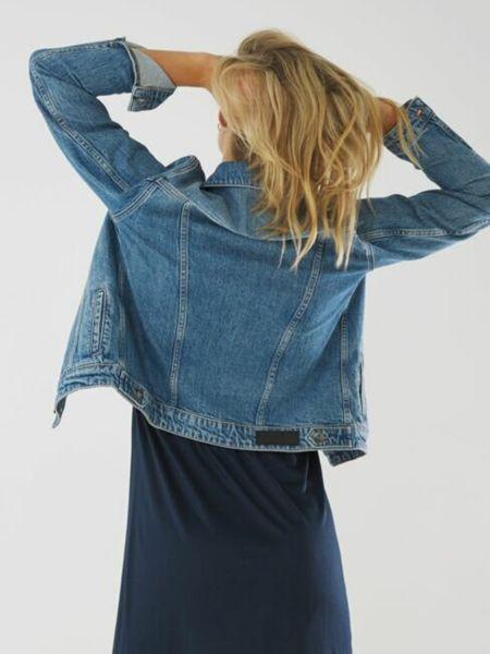Хлопковая джинсовая куртка - голубая Mexx