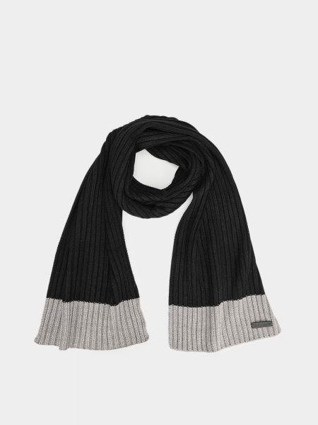 Черный шарф с нашивками Timberland