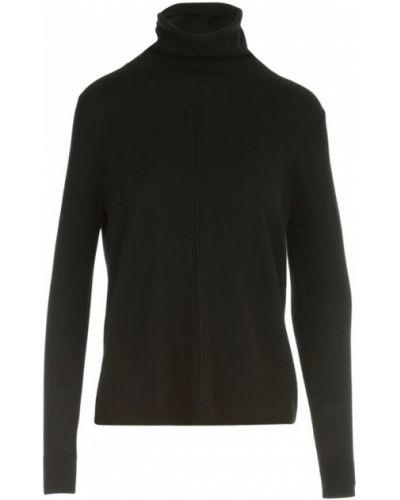 Czarny sweter asymetryczny Aspesi