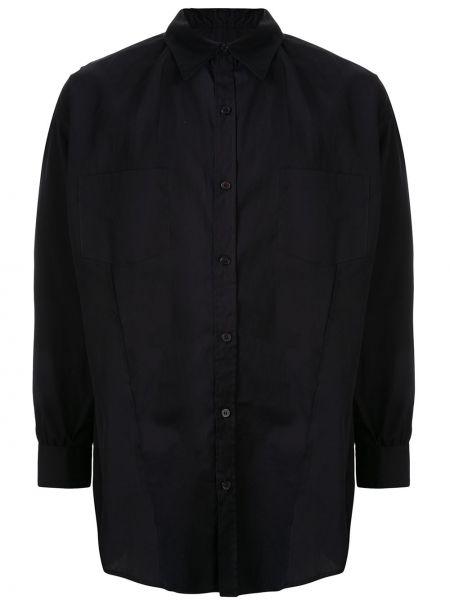 Czarna klasyczna koszula bawełniana z długimi rękawami Sulvam