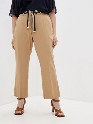 Повседневные бежевые брюки Elena Miro