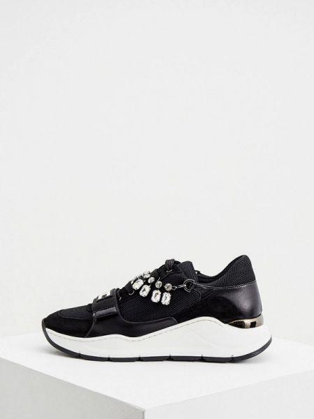 Кроссовки замшевые черные Elisabetta Franchi