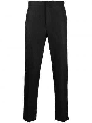 Брючные темно-серые прямые прямые брюки с поясом Harmony Paris