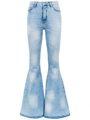 Расклешенные хлопковые синие расклешенные джинсы с карманами Amapô