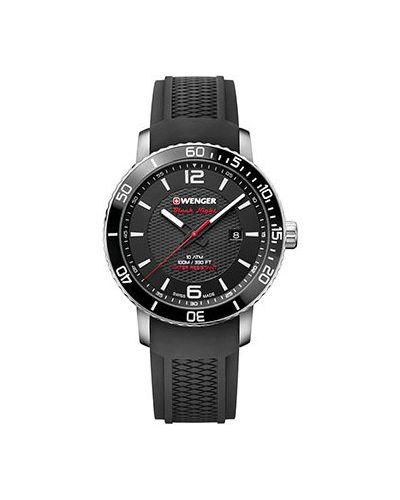 Кварцевые часы силиконовые швейцарские Wenger