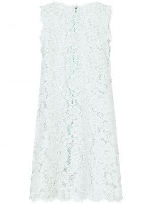 Шелковое синее кружевное платье Dolce & Gabbana