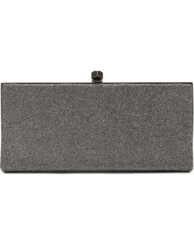 Клатч серебряного цвета Jimmy Choo