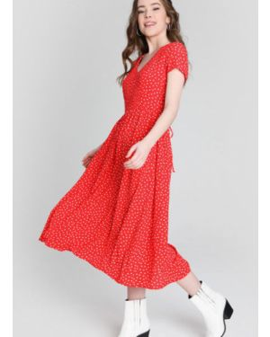 Платье мини миди в горошек Ostin