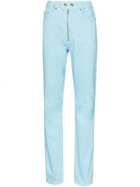 Классические хлопковые синие джинсы на пуговицах Gmbh