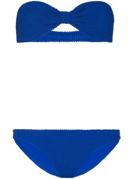 Нейлоновые синие бикини Hunza G