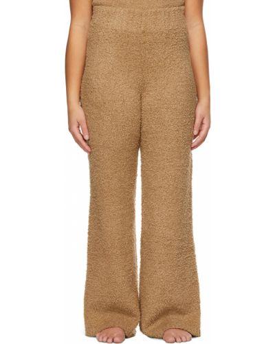 Коричневые прямые брюки Skims