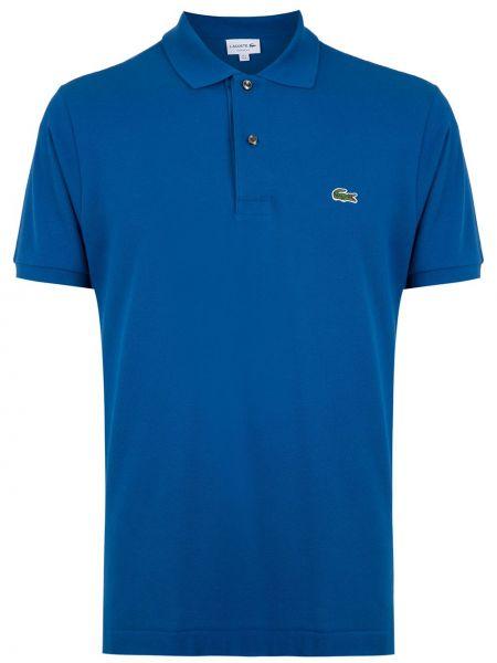 Прямая рубашка с короткими рукавами с воротником с вышивкой на пуговицах Lacoste