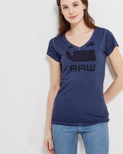 Синяя футболка G-star