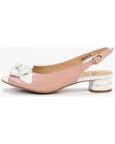 Босоножки на каблуке лаковые розовый Baden