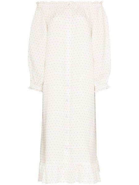 Платье макси льняное с цветочным принтом Sleeper