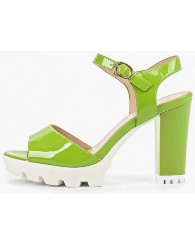Лаковые зеленые кожаные босоножки Vivian Royal