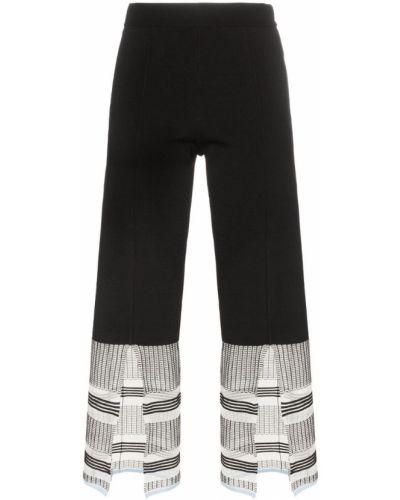 Черные укороченные брюки с поясом I-am-chen