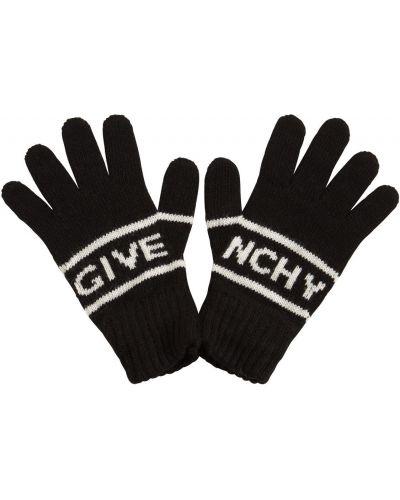 Wełniany czarny rękawiczki Givenchy