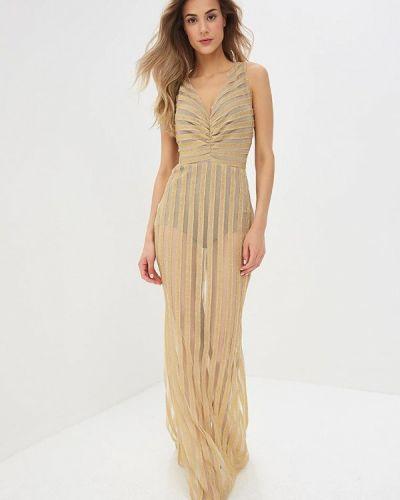 Вечернее платье золотой Mirasezar