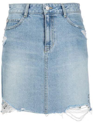 Джинсовая юбка - синяя Sjyp