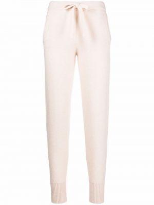 Шелковые брюки - белые Laneus
