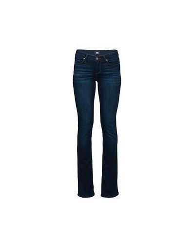 Прямые джинсы расклешенные синие Paige