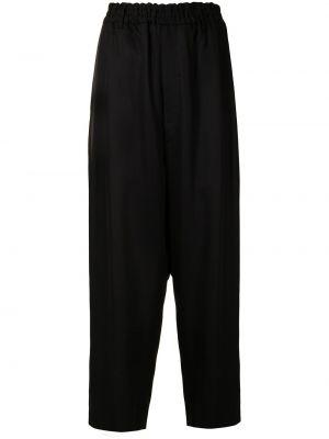 Czarne spodnie z wysokim stanem Ys