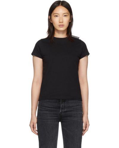 Bawełna wyposażone czarny koszula z krótkim rękawem z kołnierzem Balenciaga
