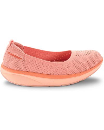 Кожаные балетки - оранжевые Walkmaxx