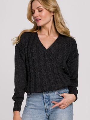 Szary pulower materiałowy kopertowy Makover