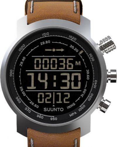 Часы водонепроницаемые с подсветкой с кожаным ремешком Suunto