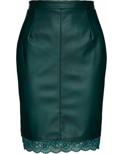 Кожаная юбка из искусственной кожи зеленый Bonprix