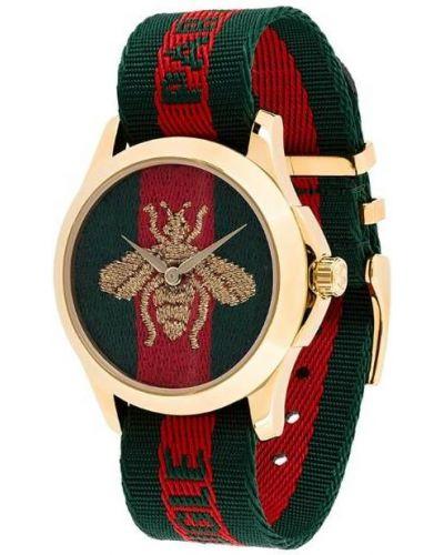 Часы водонепроницаемые зеленый красный Gucci