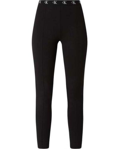 Czarny legginsy elastyczny z wiskozy Calvin Klein Jeans