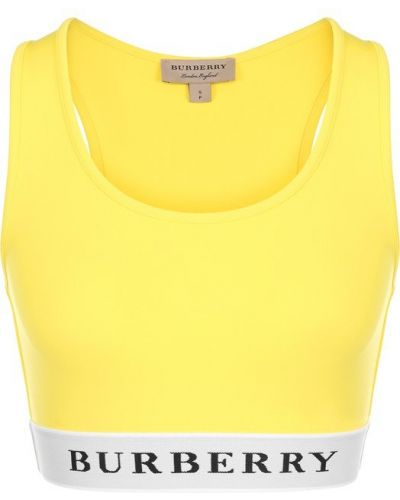 Желтый топ Burberry