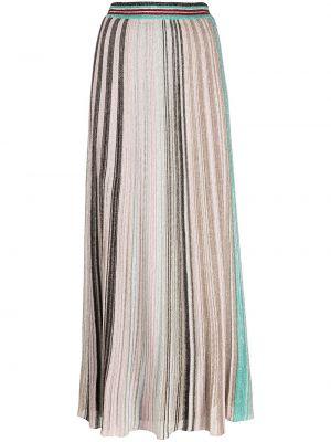 Różowa spódnica z wysokim stanem z jedwabiu Missoni