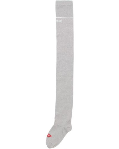 Носки с люрексом итальянские Vetements