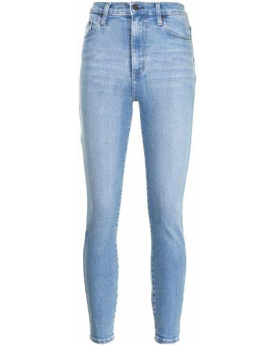 Синие с завышенной талией джинсы-скинни на молнии Nobody Denim